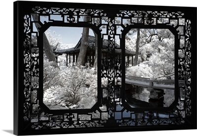 Asian Window, Another Look Series, Black Chinese Temple