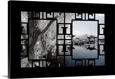 Asian Window, Another Look Series, Blue Lagoon