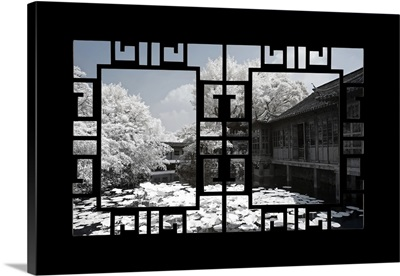 Asian Window, Another Look Series, Lotus Flowers