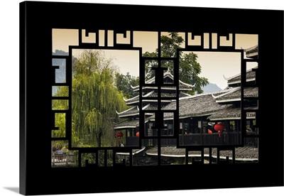 Asian Window, Chinese Buddhist Temple