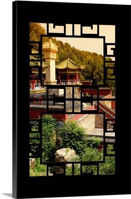 Asian Window, Summer Palace at Sunset