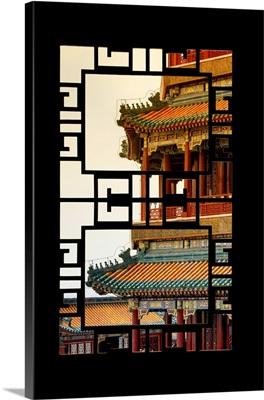 Asian Window, Sunset Summer Palace Architecture