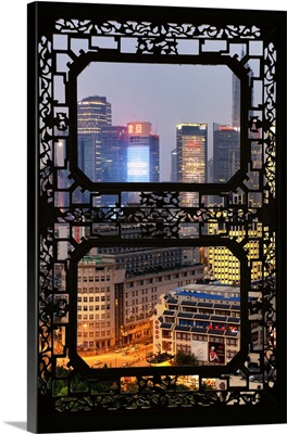 Asian Window, The Bund at Night, Shanghai