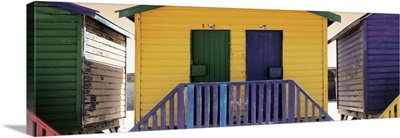 Beach Huts Forty - Six and Forty Seven Dark Yellow