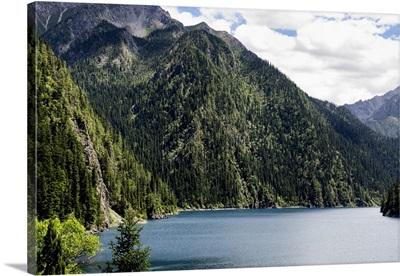 Beautiful Lake in the Jiuzhaigou National Park