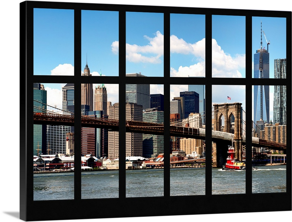 Beautiful View From A Window In Manhattan Wall Art Canvas Prints Framed Prints Wall Peels Great Big Canvas