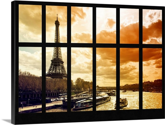 Beautiful View from a Window in Paris Wall Art, Canvas Prints ...
