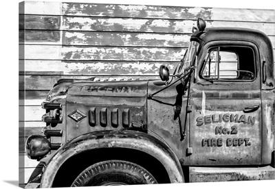 Black And White Arizona Collection - Seligman Fire Dept.