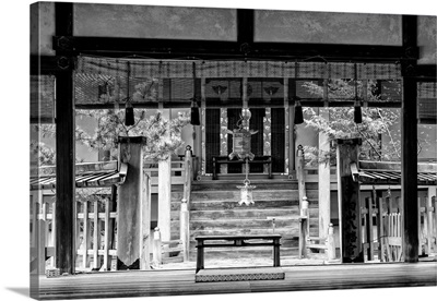 Black And White Japan Collection - Buddhist Temple
