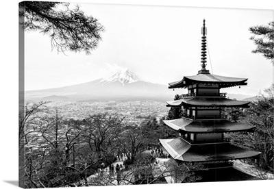 Black And White Japan Collection - Chureito Pagoda