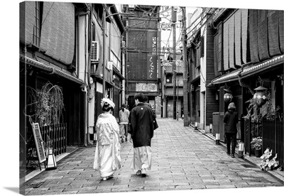 Black And White Japan Collection - Day In Kyoto