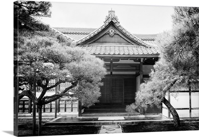Black And White Japan Collection - Facade Temple