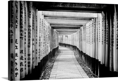 Black And White Japan Collection - Fushimi Inari Shrine