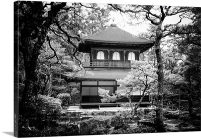Black And White Japan Collection - Ginkakuji Temple Kyoto
