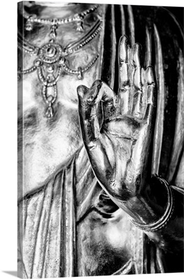 Black And White Japan Collection - Golden Buddha Hand