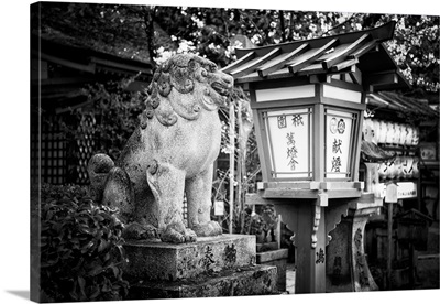 Black And White Japan Collection - Guardian Of The Temple