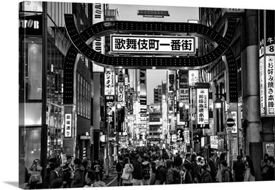 Black And White Japan Collection - Kabukicho Tokyo