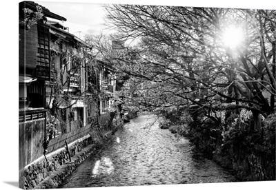 Black And White Japan Collection - Kyoto River