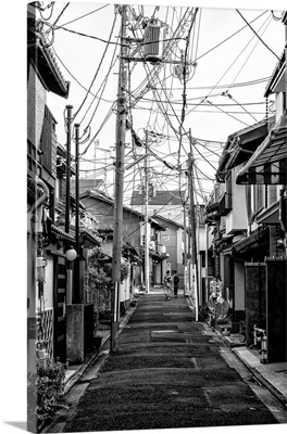 Black And White Japan Collection - Kyoto Street Scene III