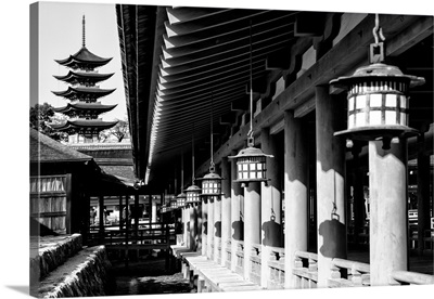 Black And White Japan Collection - Miyajima Temple