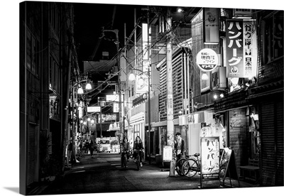 Black And White Japan Collection - Night Street Scene