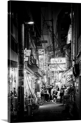 Black And White Japan Collection - Night Street Scene II