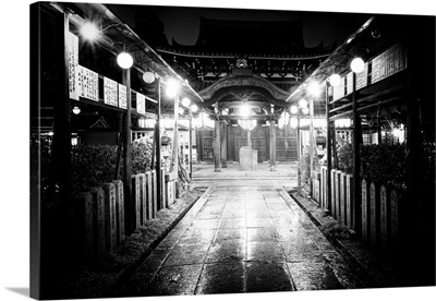 Black And White Japan Collection - Night Temple