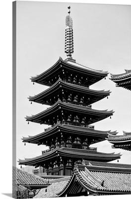 Black And White Japan Collection - Senso-Ji Temple