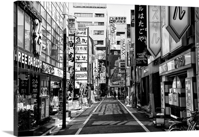 Black And White Japan Collection - Street Scene