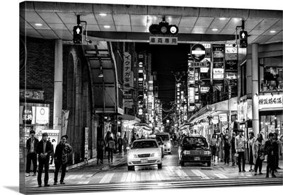 Black And White Japan Collection - Street Scene Hiroshima
