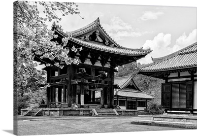 Black And White Japan Collection - Temple Nara