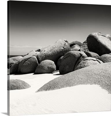 Boulders, White Beach, Black and White II