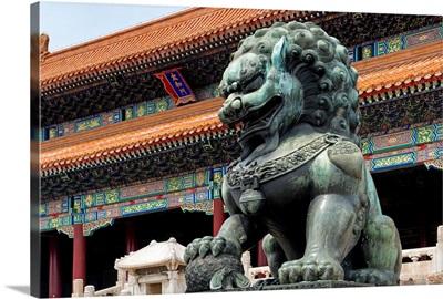 Bronze Chinese Lion in Forbidden City
