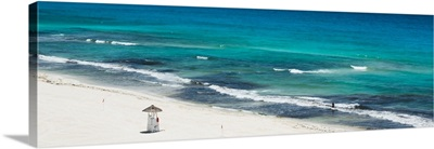 Cancun, Blue Ocean and White Beach