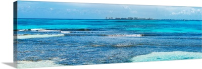 Caribbean Coastline overlooking Cancun