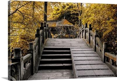 Chinese Bridge in Autumn