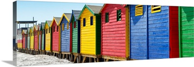 Colorful Beach Huts Cape Town II