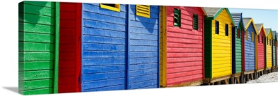 Colorful Beach Huts Cape Town III