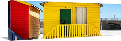 Colorful Beach Huts - Eight and Nine Yellow