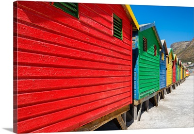 Colorful Beach Huts on Muizenberg I