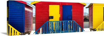 Colorful Beach Huts - Seven Red