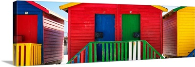 Colorful Beach Huts - Twelve and Thirteen Red