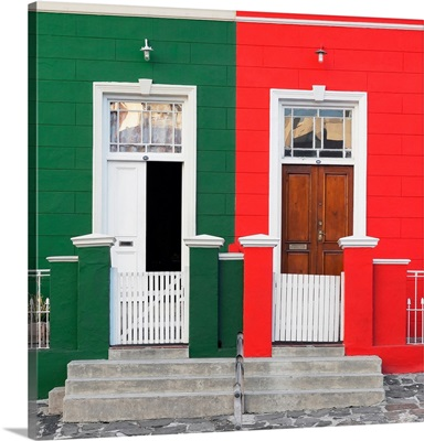 Colorful Houses, Green and Red