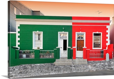 Colorful Houses - Green and Red