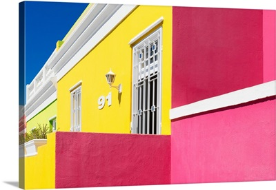 Colorful Houses - Ninety-One Yellow and Pink