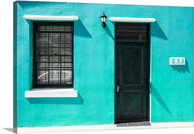Colorful Houses - Sixty Three Coral Green