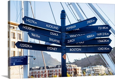 Direction Sign from Cape Town