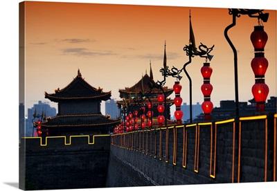 Illumination Night Ramparts, Xi'an City