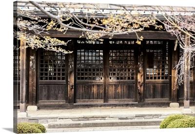 Japan Rising Sun Collection - Japanese Wooden Facade