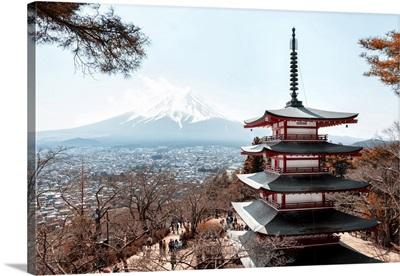 Japan Rising Sun Collection - Mt. Fuji with Chureito Pagoda